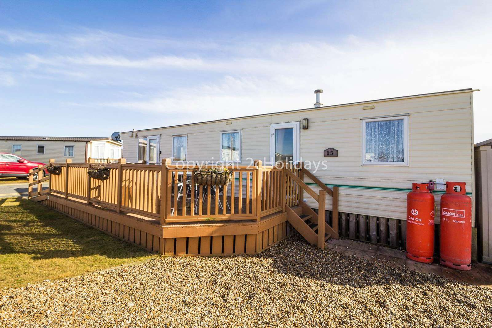Great caravan with lots of homely touches throughout