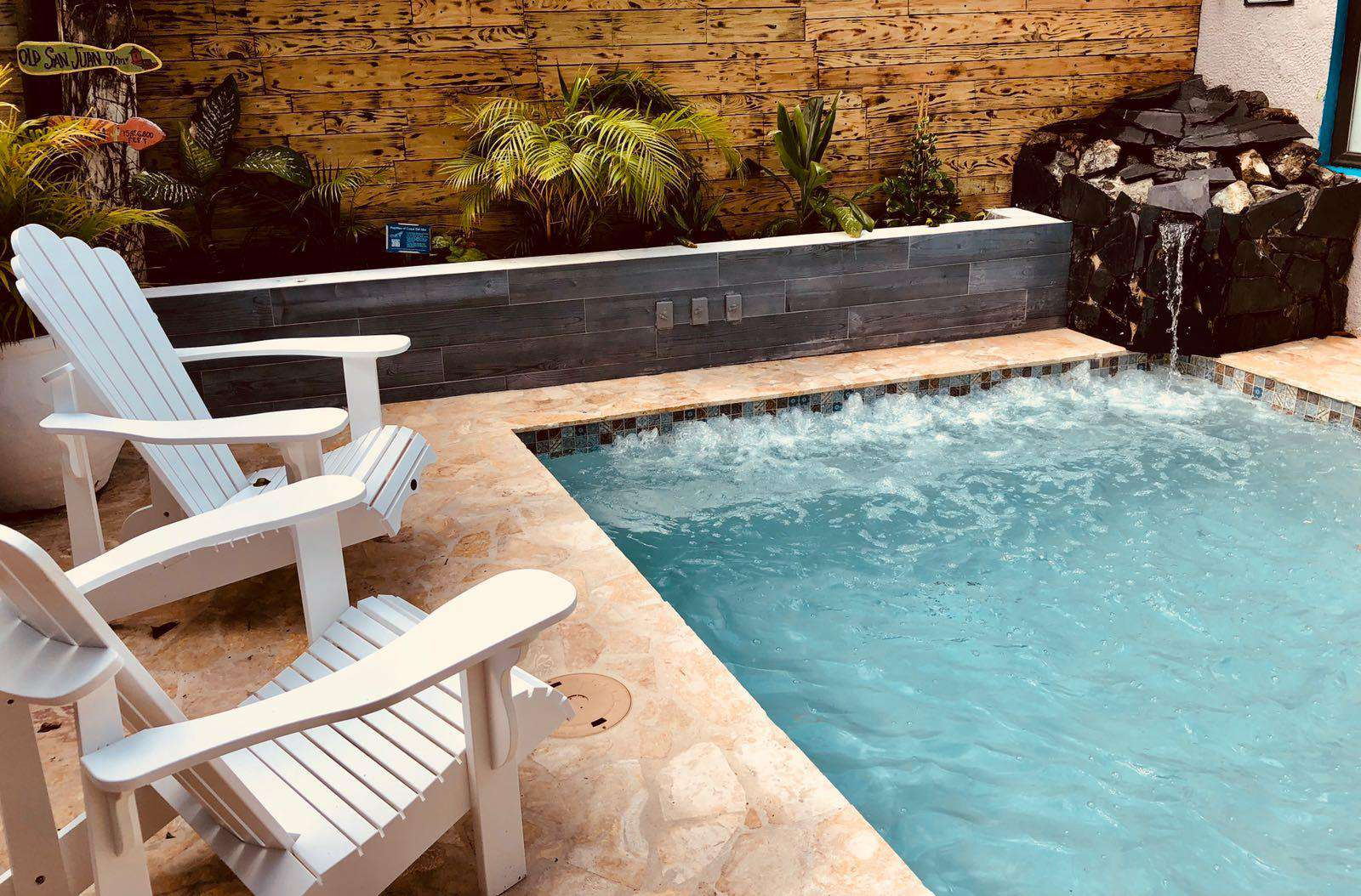 Say hello to your PRIVATE pool with waterfall