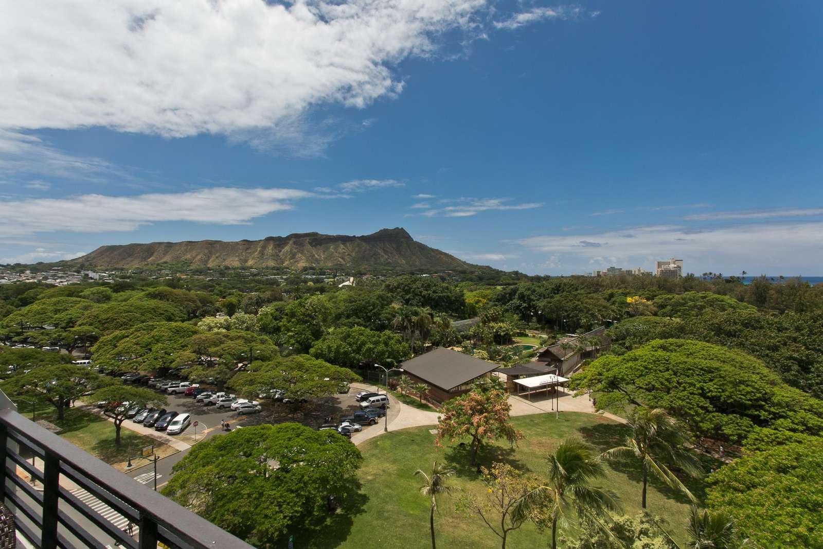 Yes, that's Honolulu Zoo below you