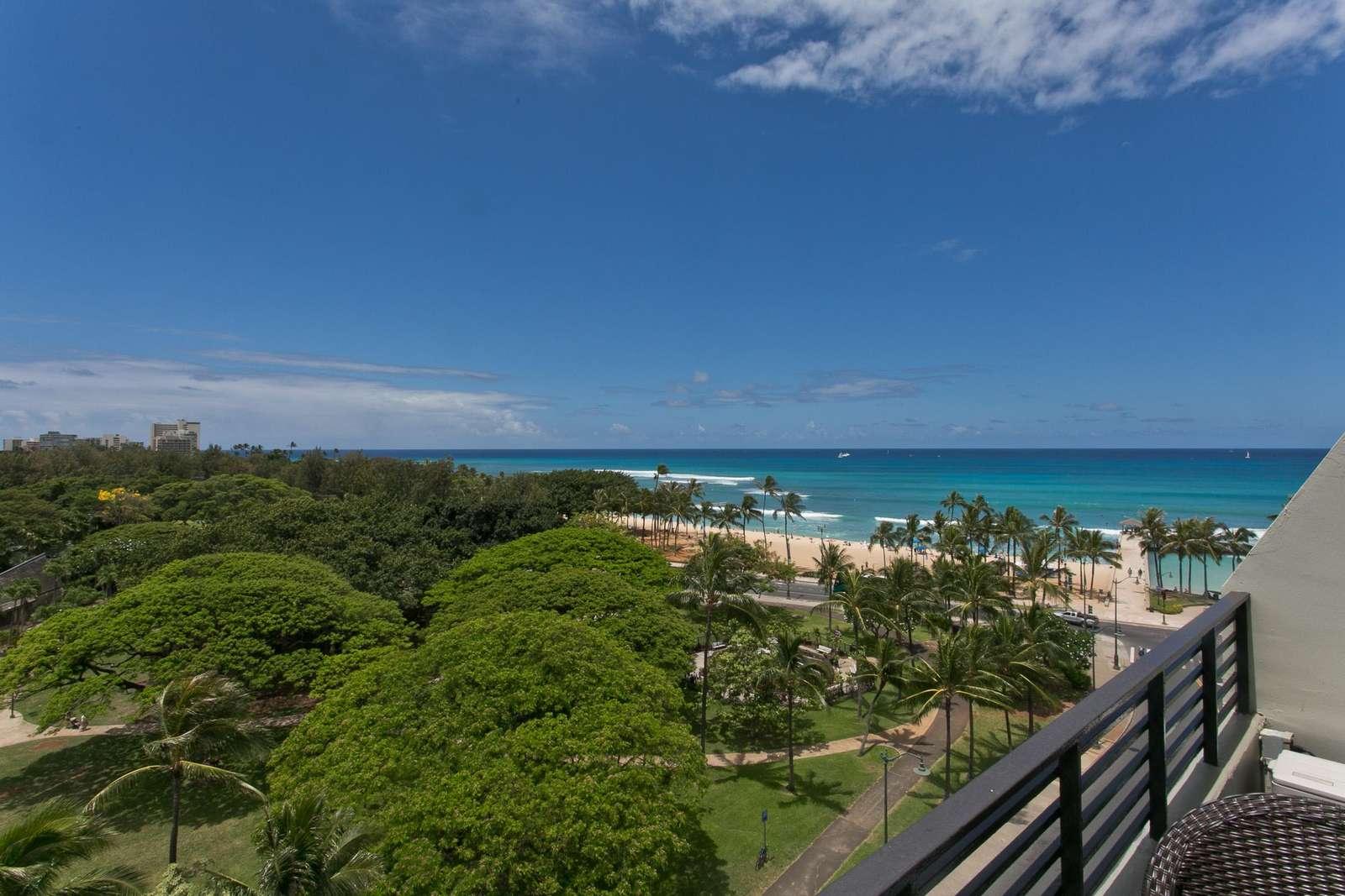 Waikiki Beach from your balcony