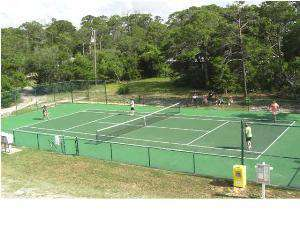 Tennis court for lots of play time!
