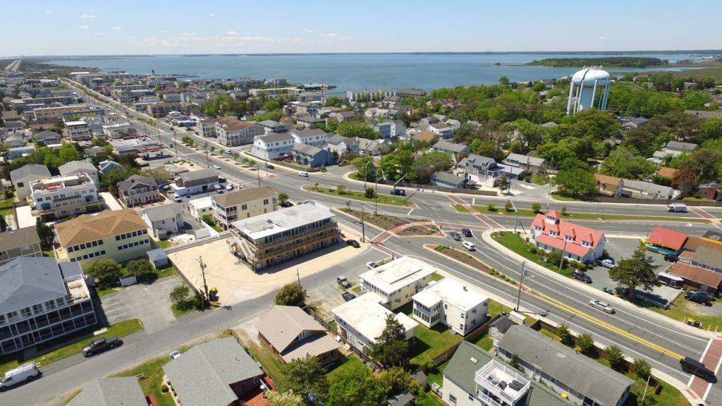 Aerial of Dewey Beach