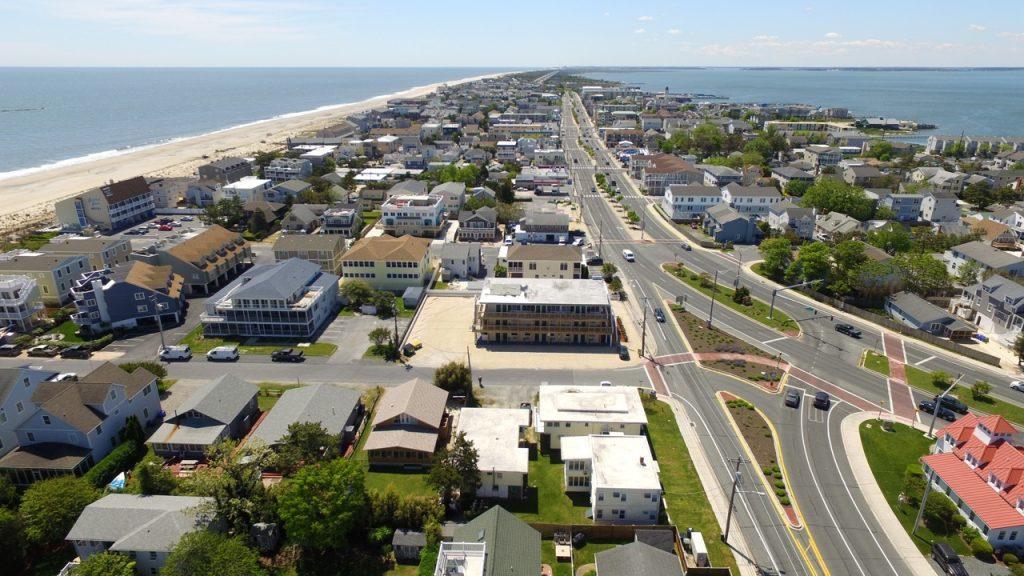 Aerial of Ocean View Condominiums