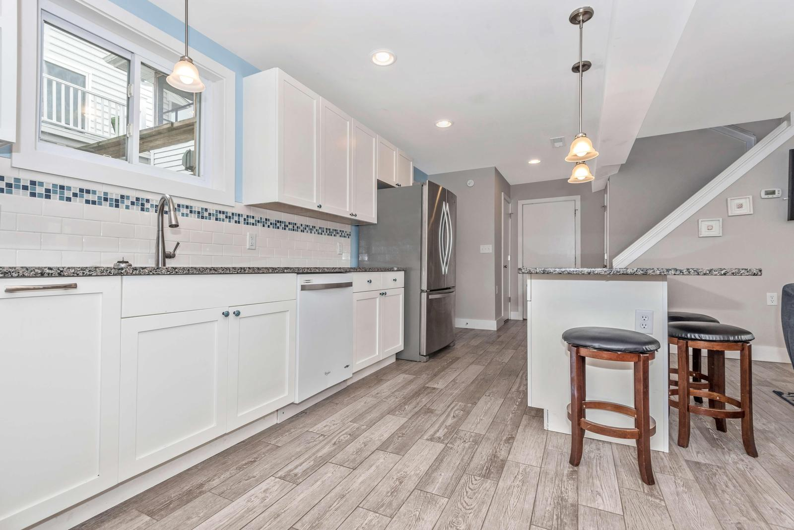 Plenty of counter space in the newly remodeled Kitchen