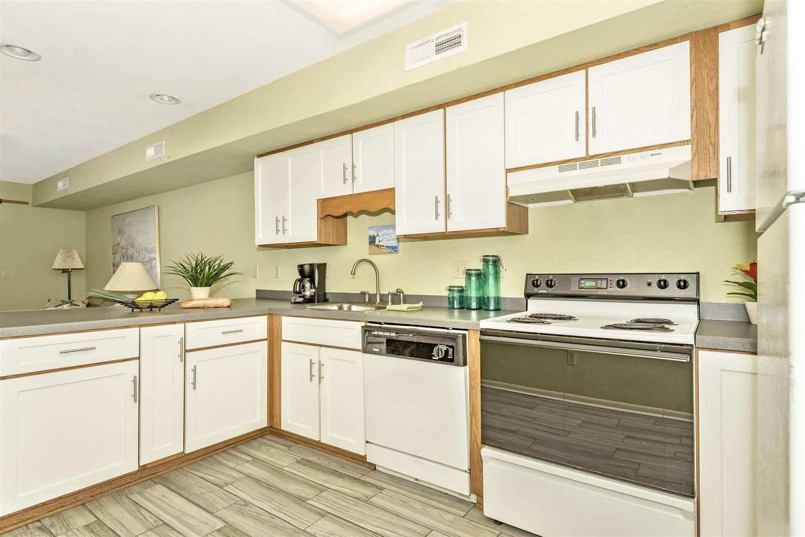 Spacious and clean kitchen