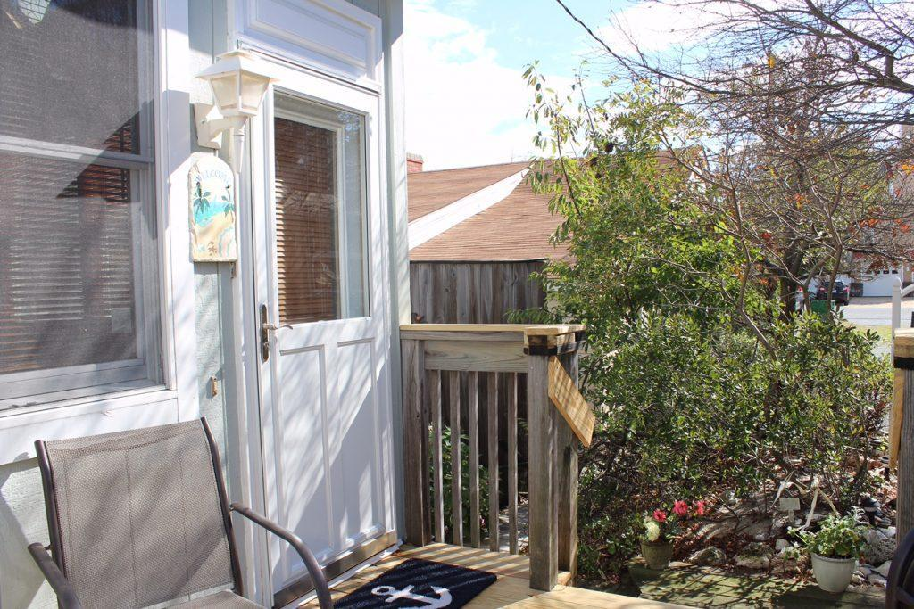Front door on deck