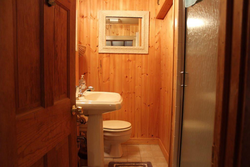 Main bathroom with stand up shower