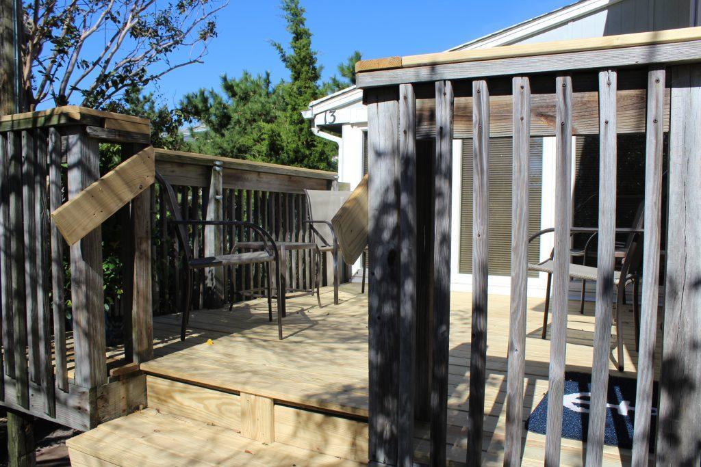 Front deck entrance