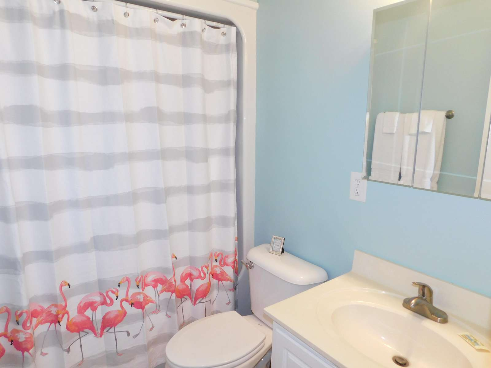 Full Bath Tub/shower Between Queen and Double Bdrm