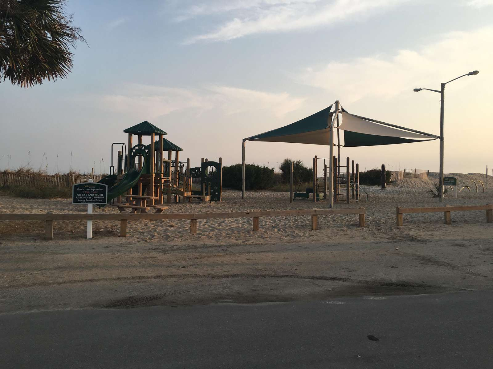 One of the two play grounds