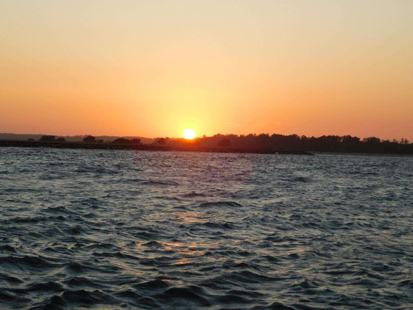 Beautiful sunset from a sunset cruise