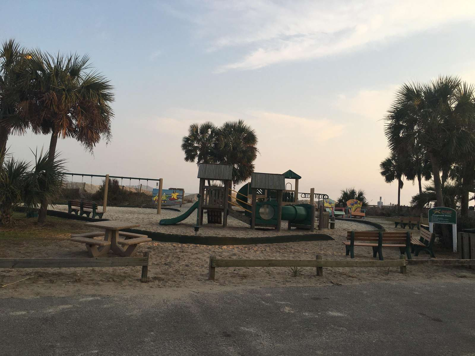 One of 2 playgrounds