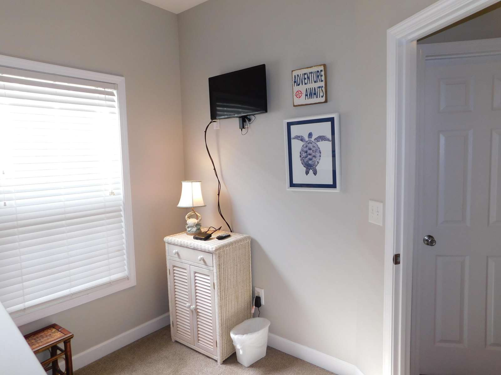 Flat screen in Bunk Room
