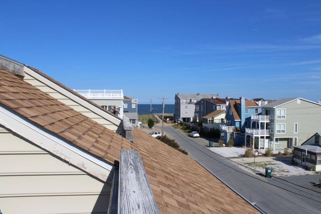 Eastward view towards Ocean from top balcony