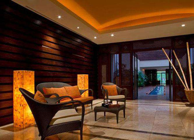 Lobby area at the spa