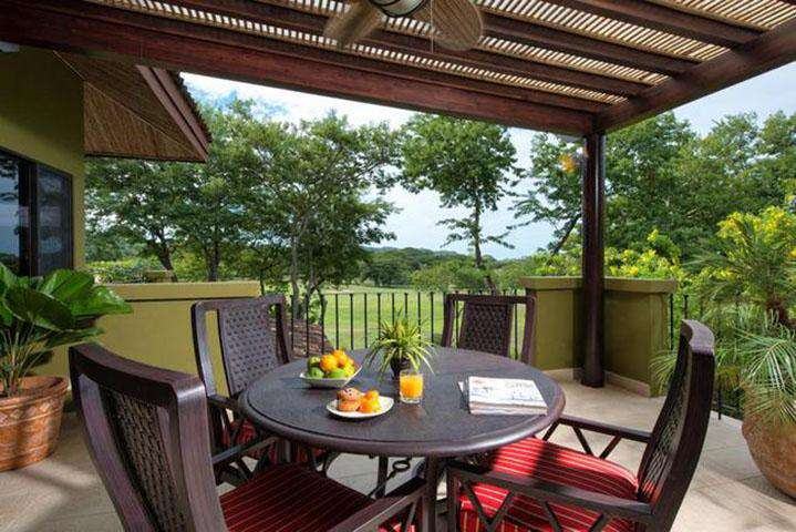 Private balcony with outdoor seating