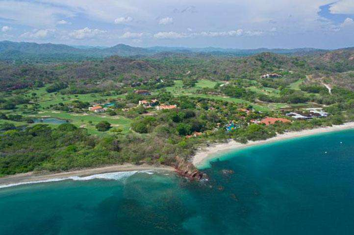 Aerial view of the resort and Conchal beach