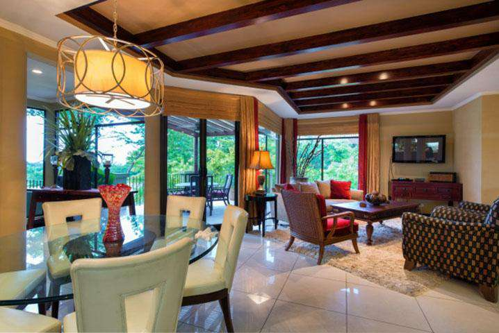Dining area looking to sitting area