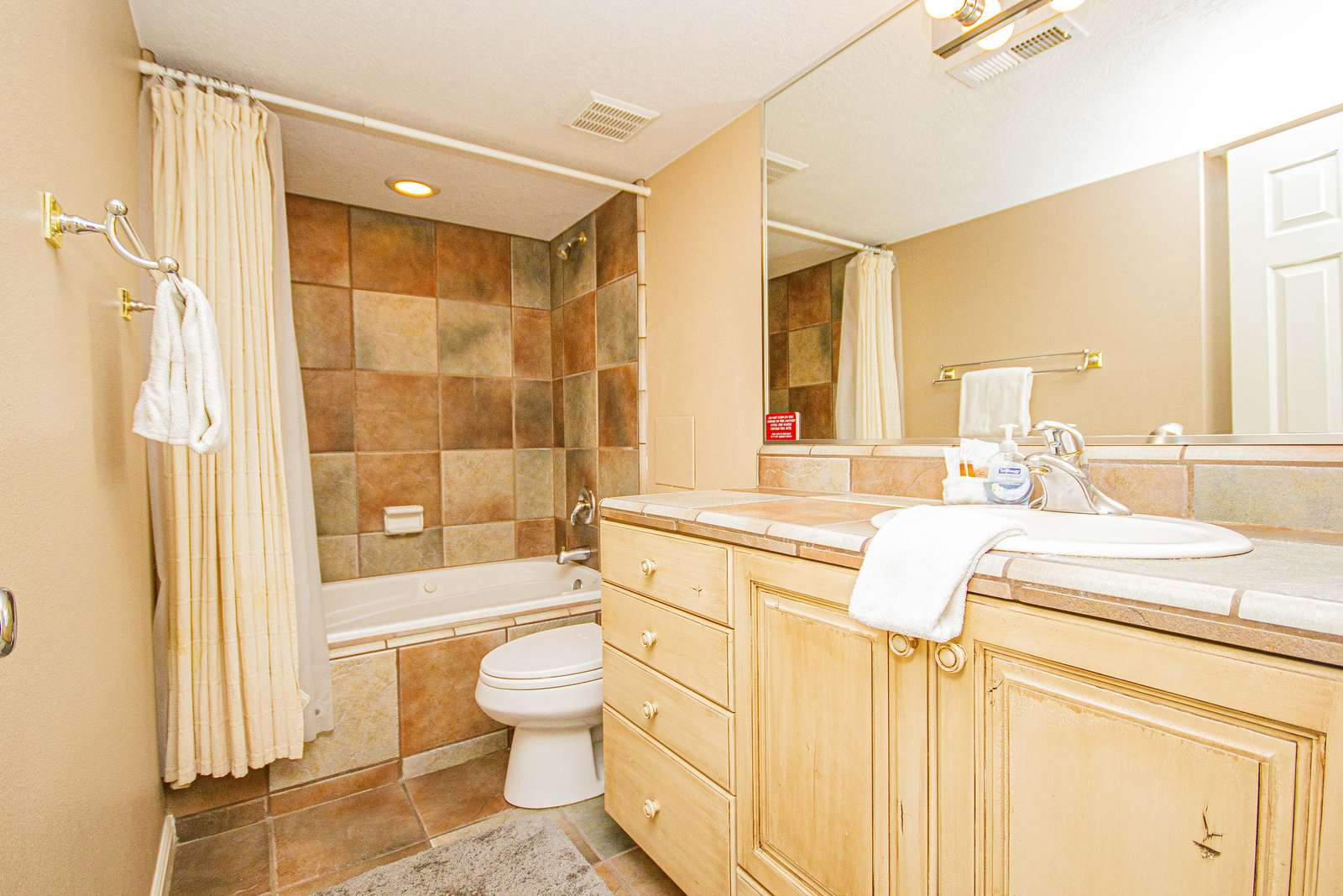 Bathroom 2 - Jetted Tub / Shower Combo
