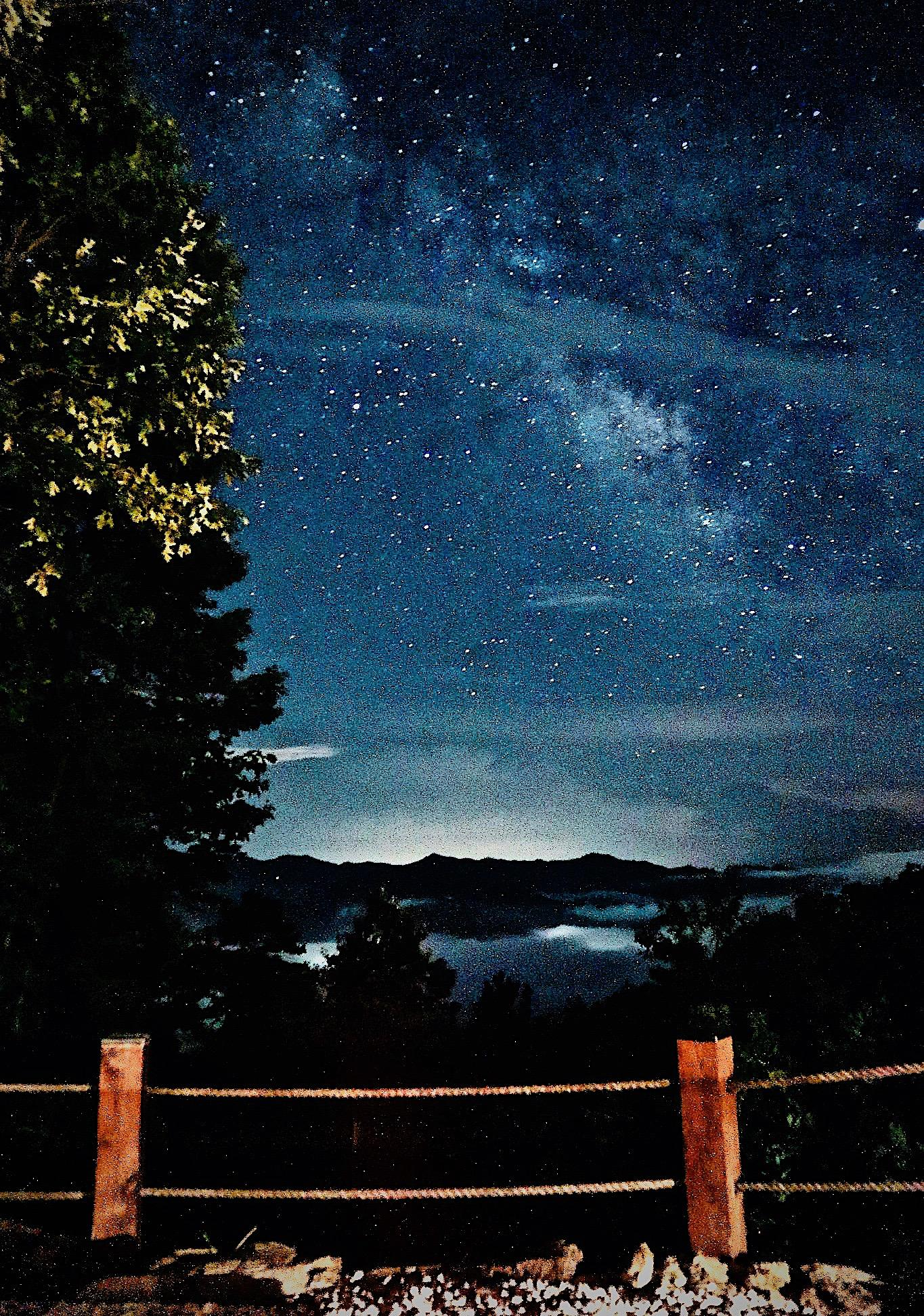 Starry Sky (Viewed from the Fire Pit and Hot Tub Deck)