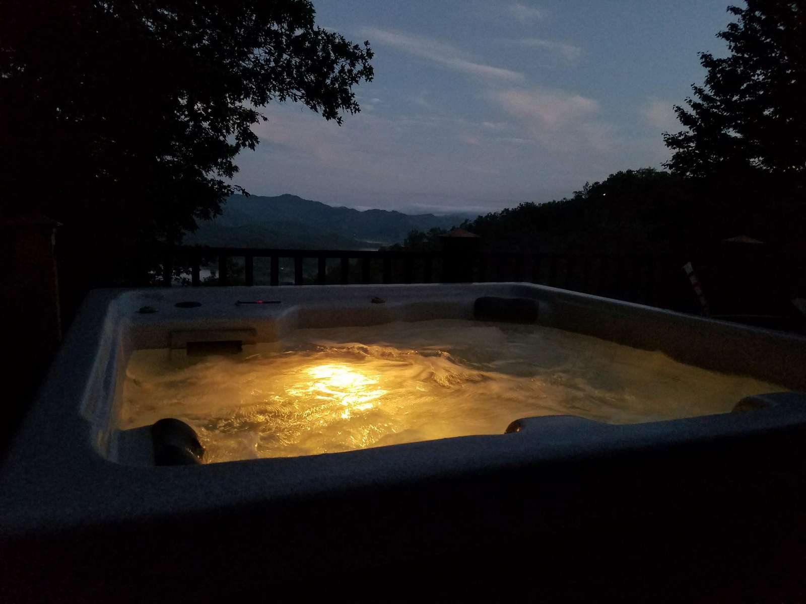 Evening View of the Hot Tub