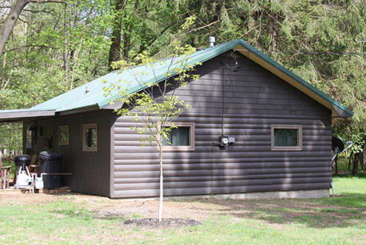 Twin Oaks Cabin with new Oak Tree