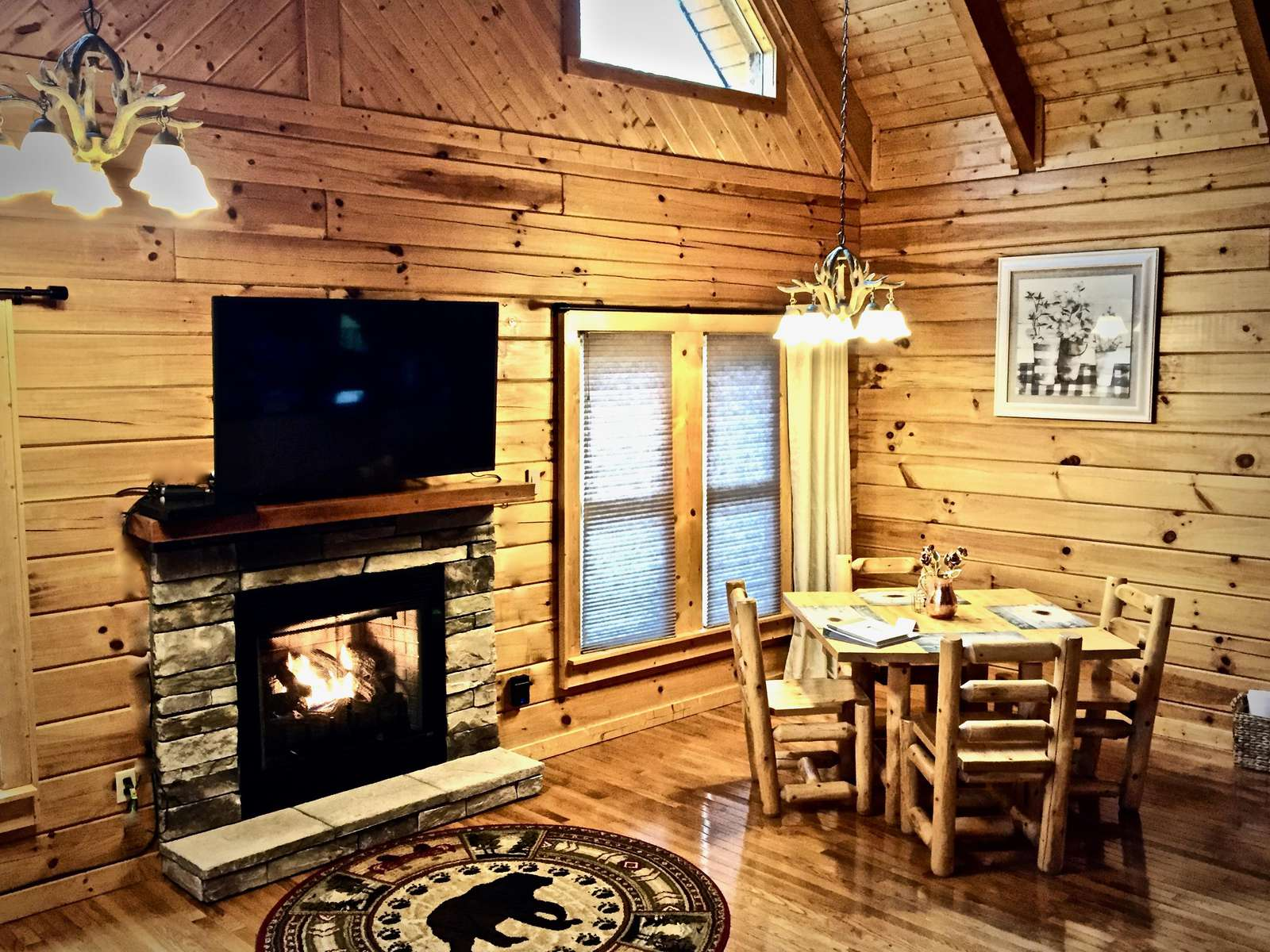 Open Floor Plan with Log Dining Set