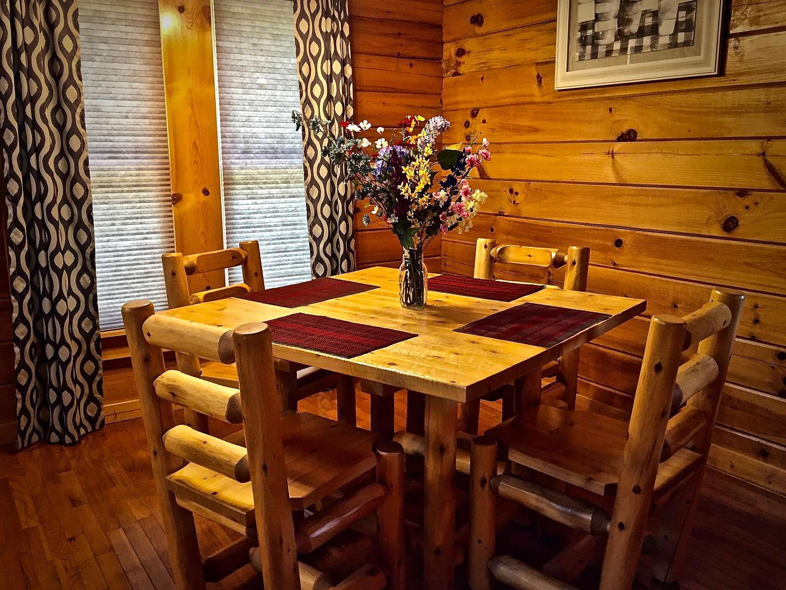 Dining is convenient to the Kitchen and Living Areas