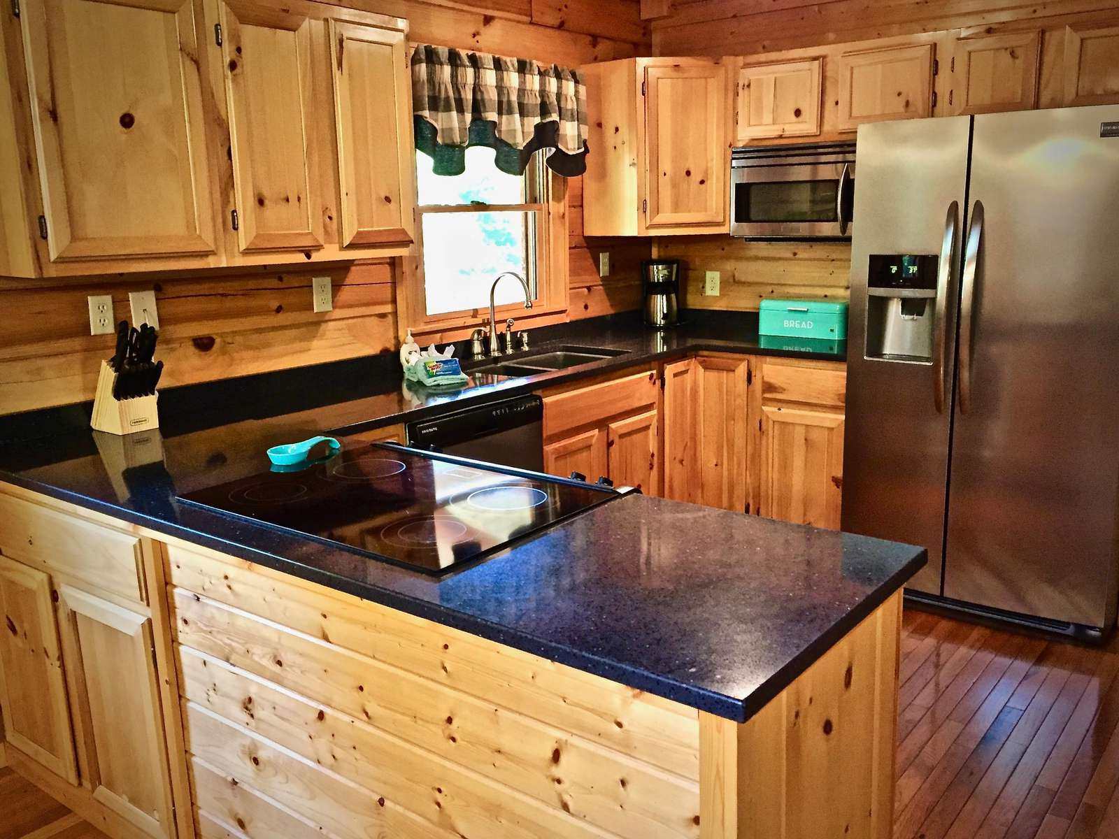 Kitchen is fully stocked and the Granite counter tops offer ample space to Prepare your Meals!