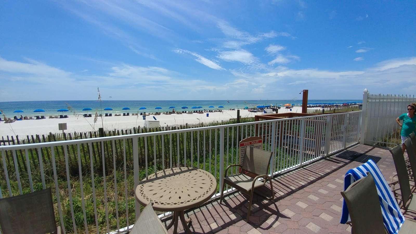 Beach-view pool deck!