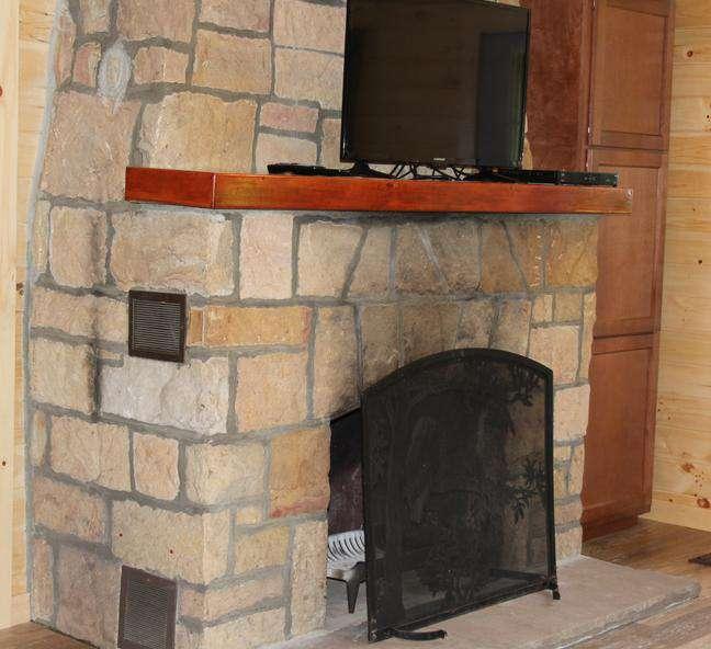 Maple Grove Cabin Wood Burning Fireplace