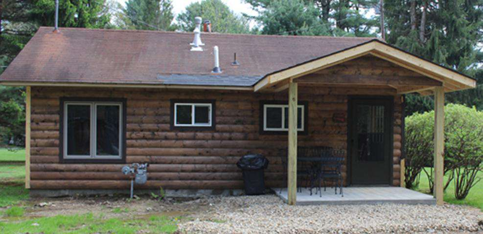 Maple Grove Cabin Outside Facing Parking Area