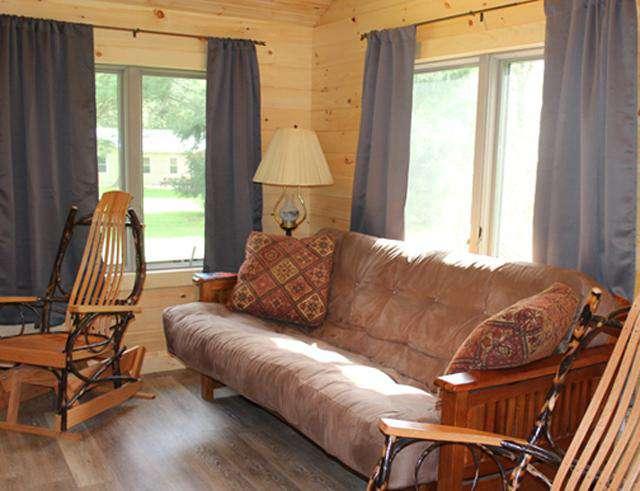 Maple Grove Cabin Living Room