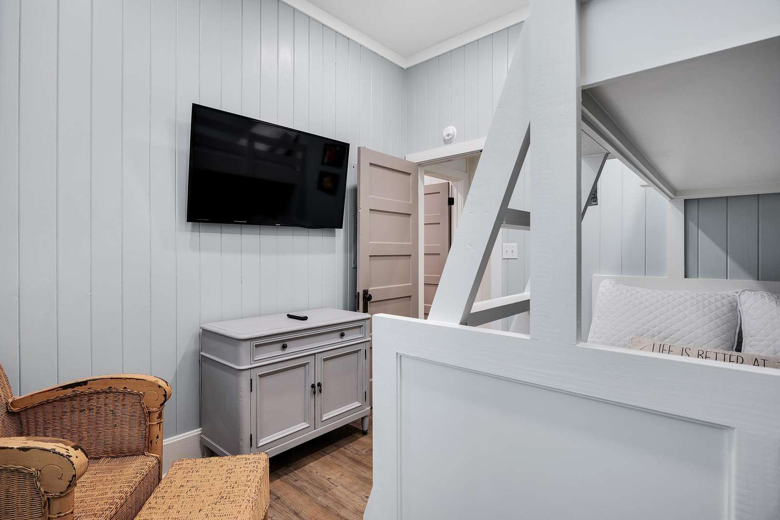 Mounted TV in Bunk Room
