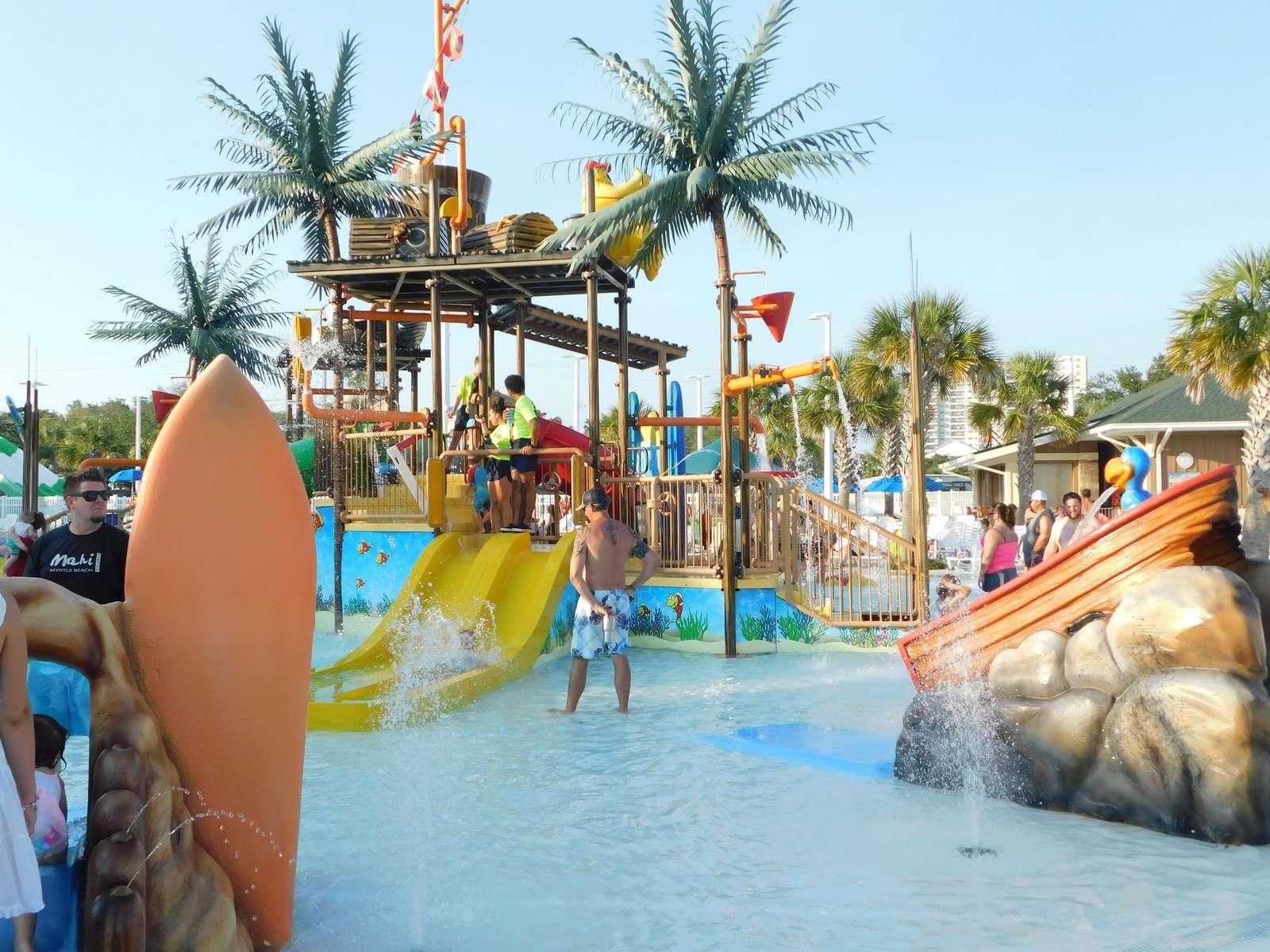 Splash zone slides