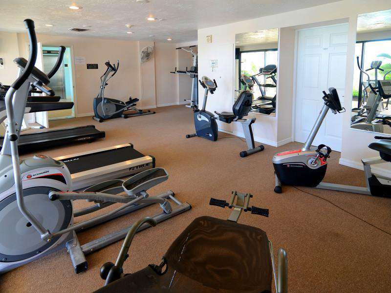The fitness room of the condominium