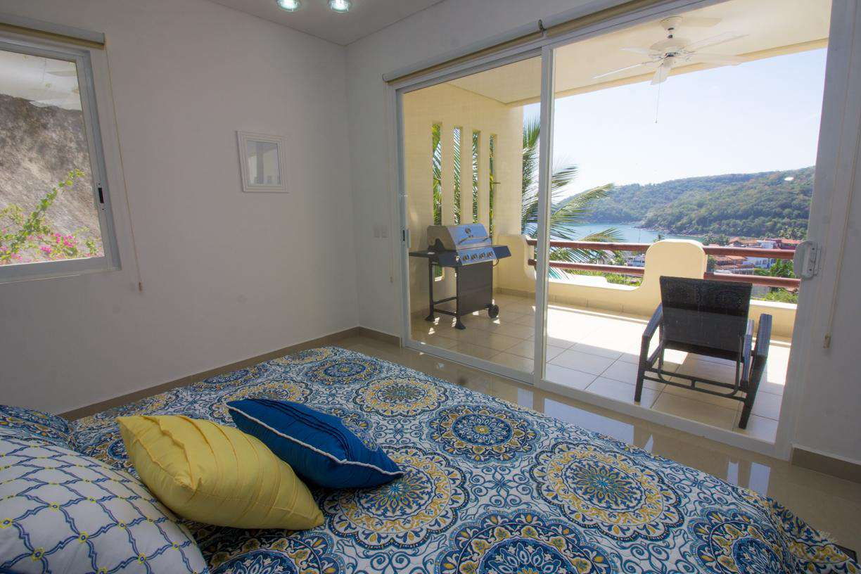 King bed in master with ensuite and ocean views