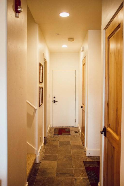 Hallway to one-car garage