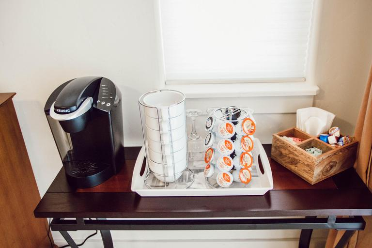 Coffee station off master bedroom