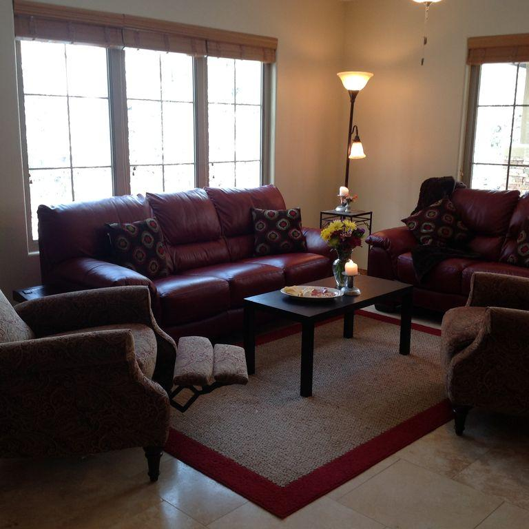 Living room with two reclining accent chair