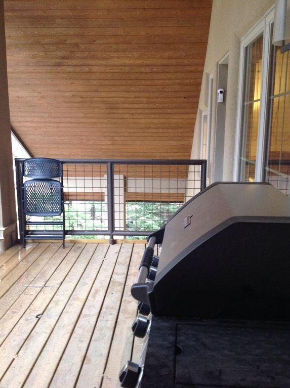 Your private deck with a new gas grill