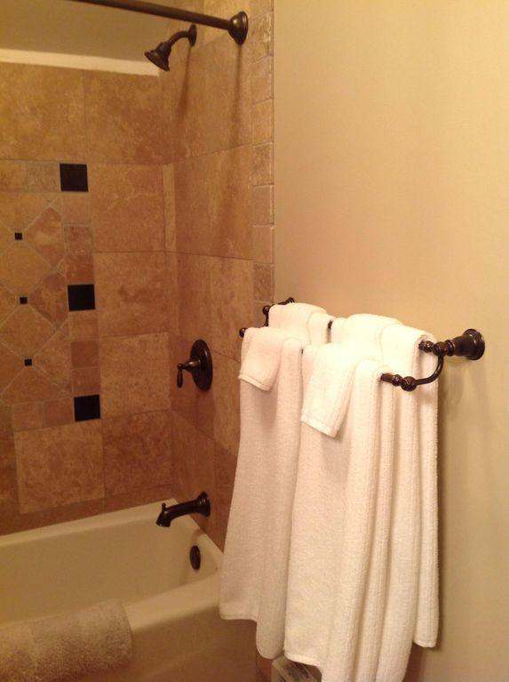 Luxurious bath towels soft and absorbent