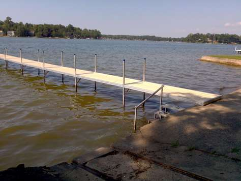 Dock and stairs to swimming area