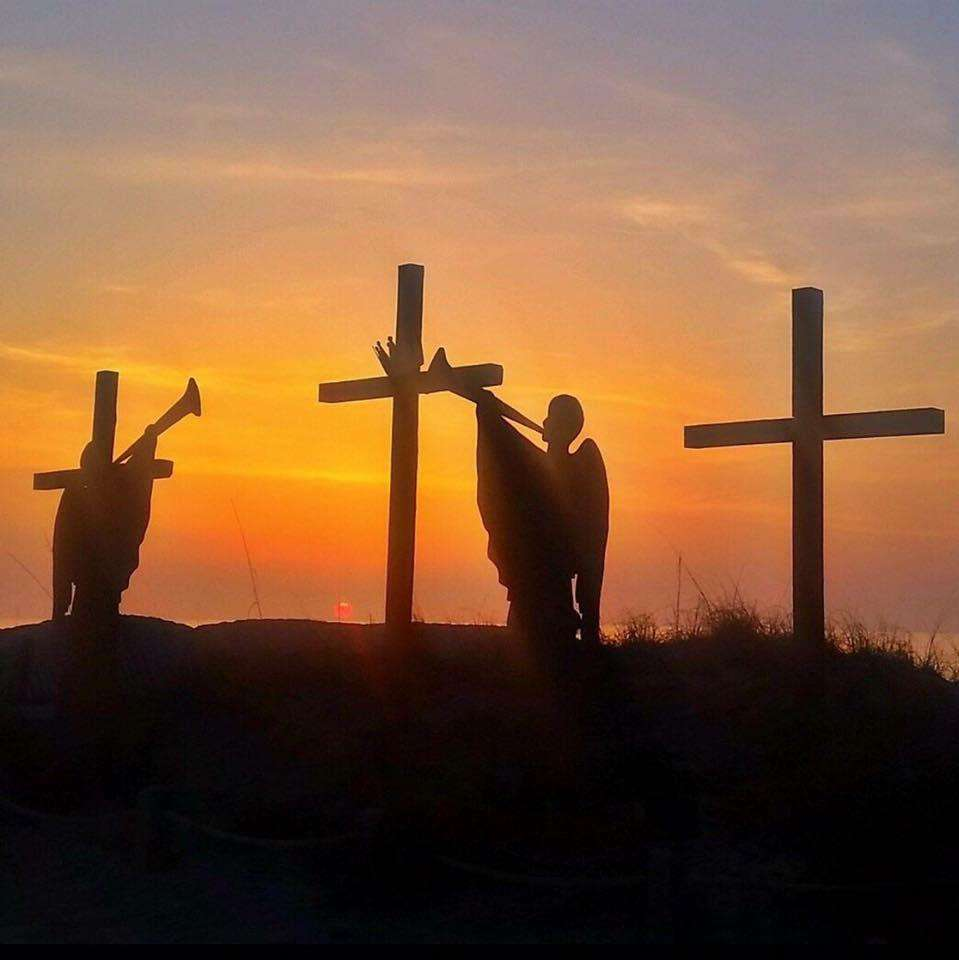 Crosses at Easter Ocean Front