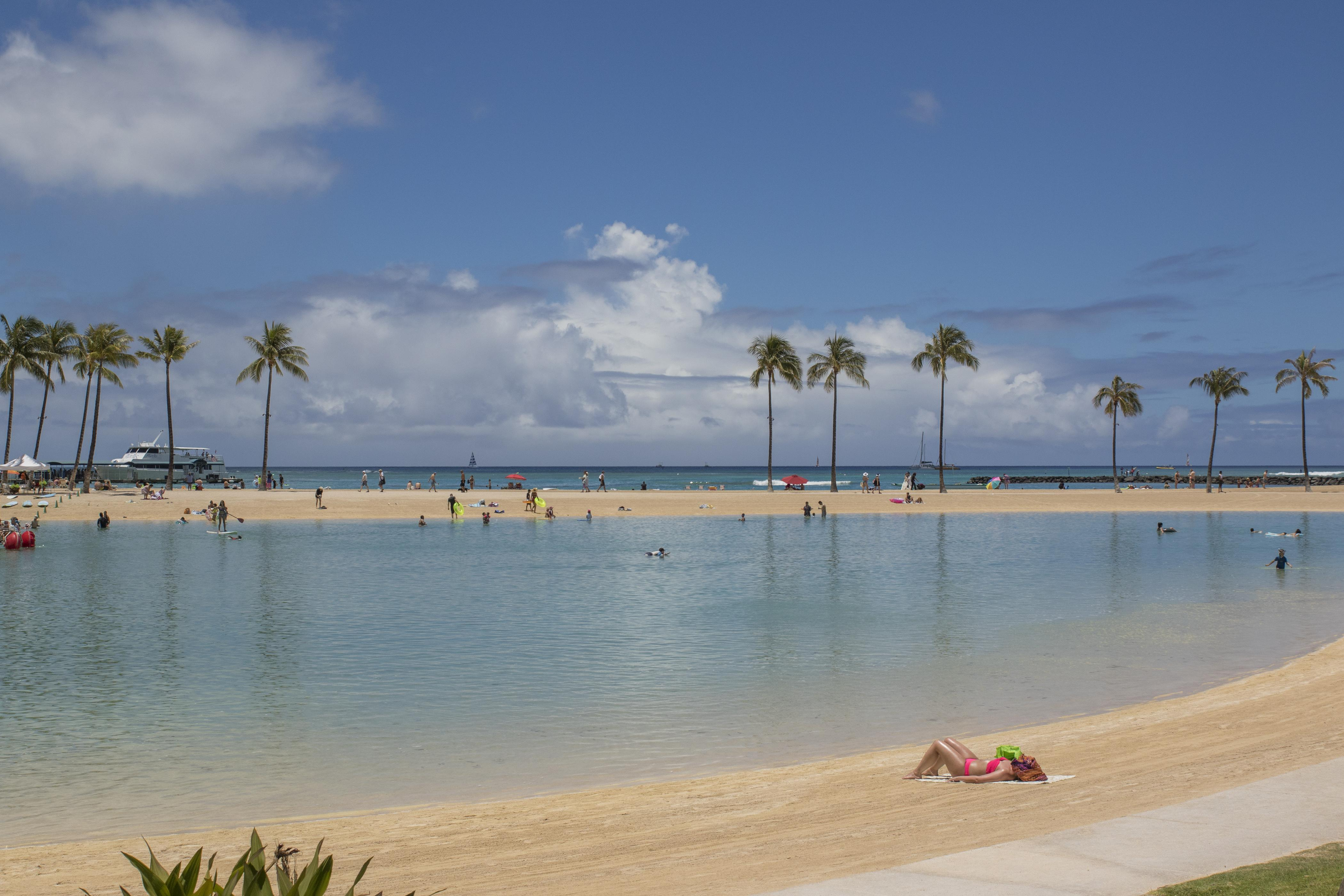 The Hilton Lagoon is just steps away.