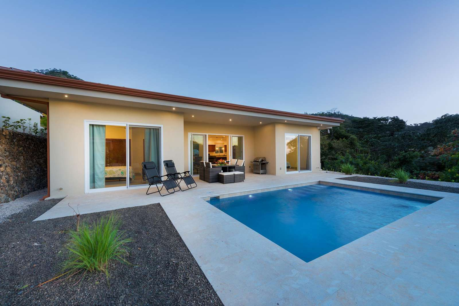 Dos rios 18, pool and view of private deck