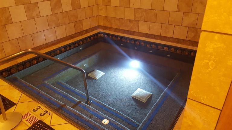 Adults-only hot tub