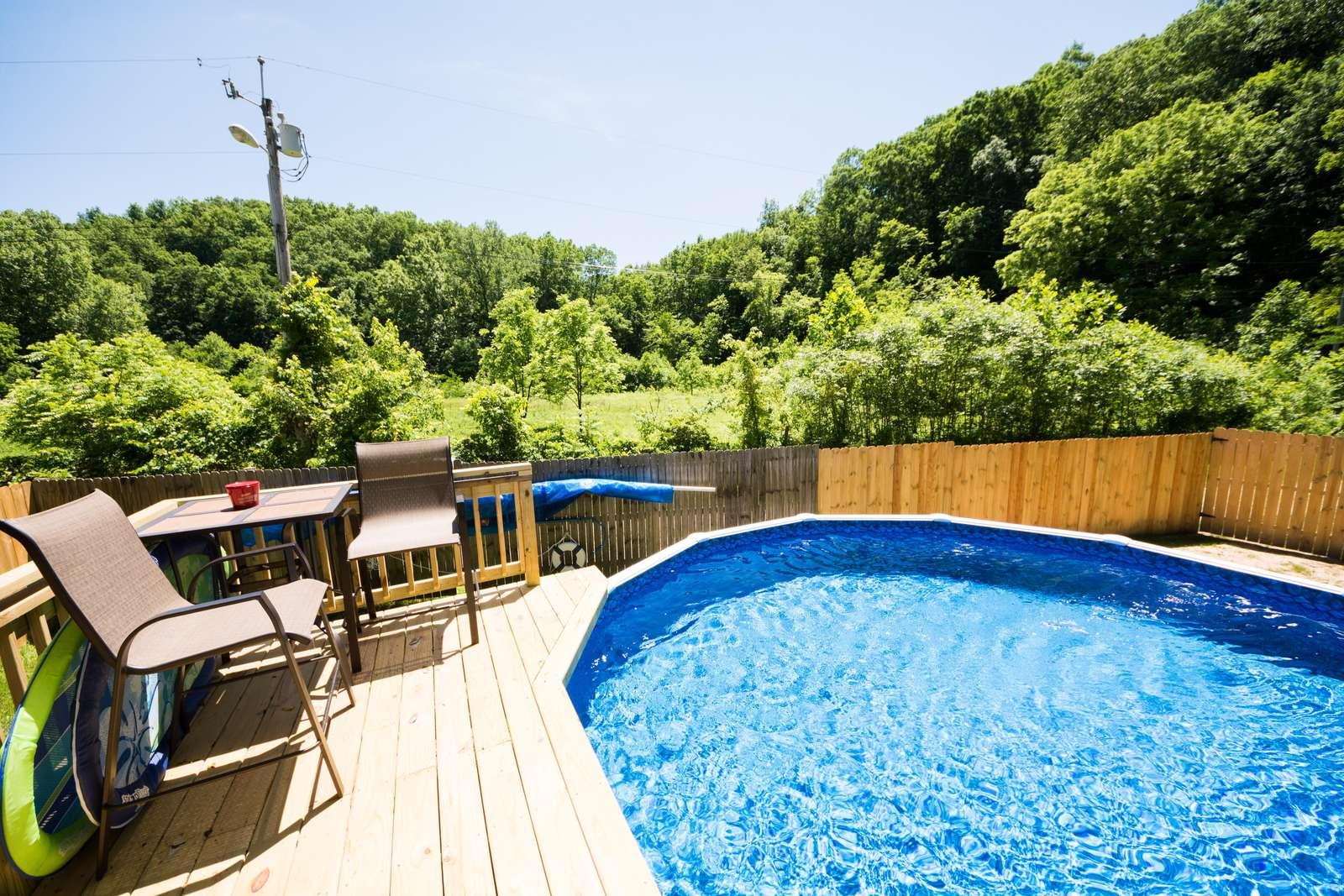 Pool open June, July, August