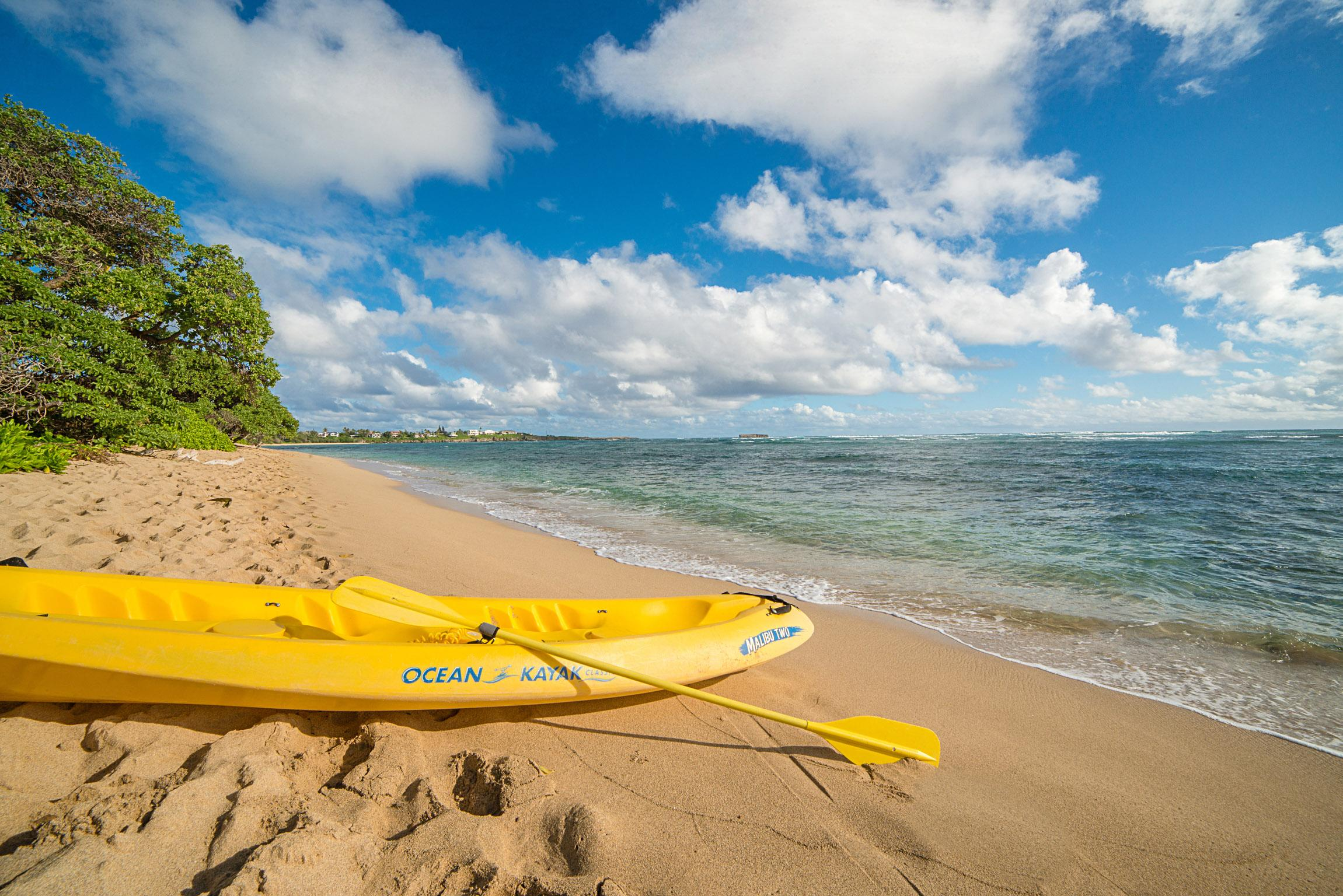 Complimentary use of our kayak at Tiki Moon Villas