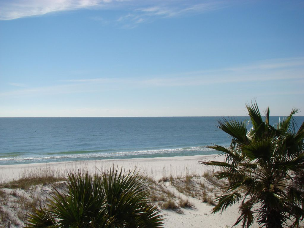 Partial Orange Beach View. Homes are being constructed in front of Seascape allowing for a partial beach view.